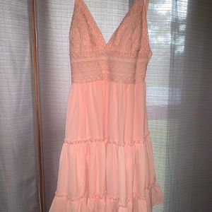 Pink Open Back Dress